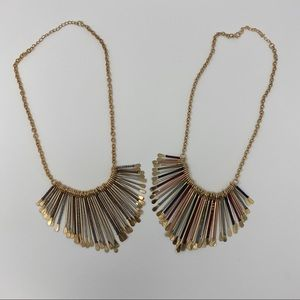 SET OF 2: Francescas's Statement Necklaces (Gold)